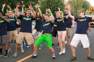"Singing ""Freak Flag"" at Maple Grove Days Parade"
