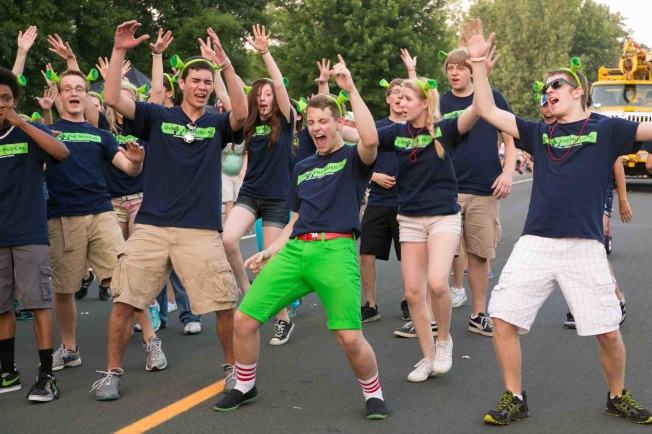 "Singing ""Freak Flag"" at Maple Grove Days Parade"
